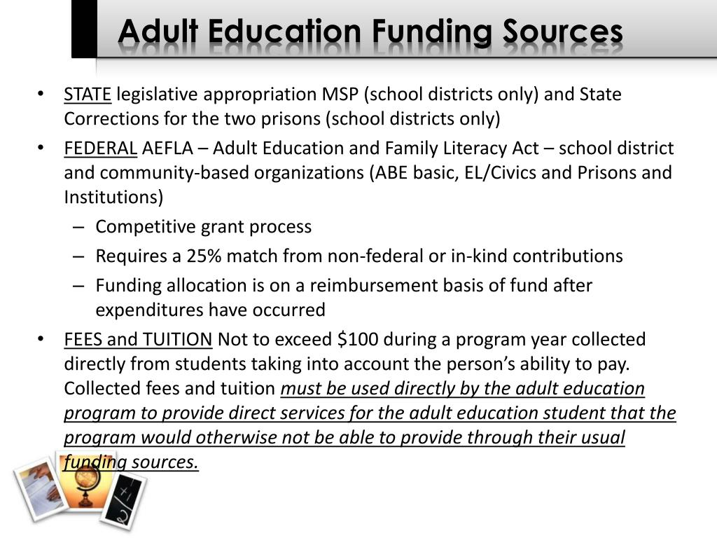 Adult Education Funding Sources