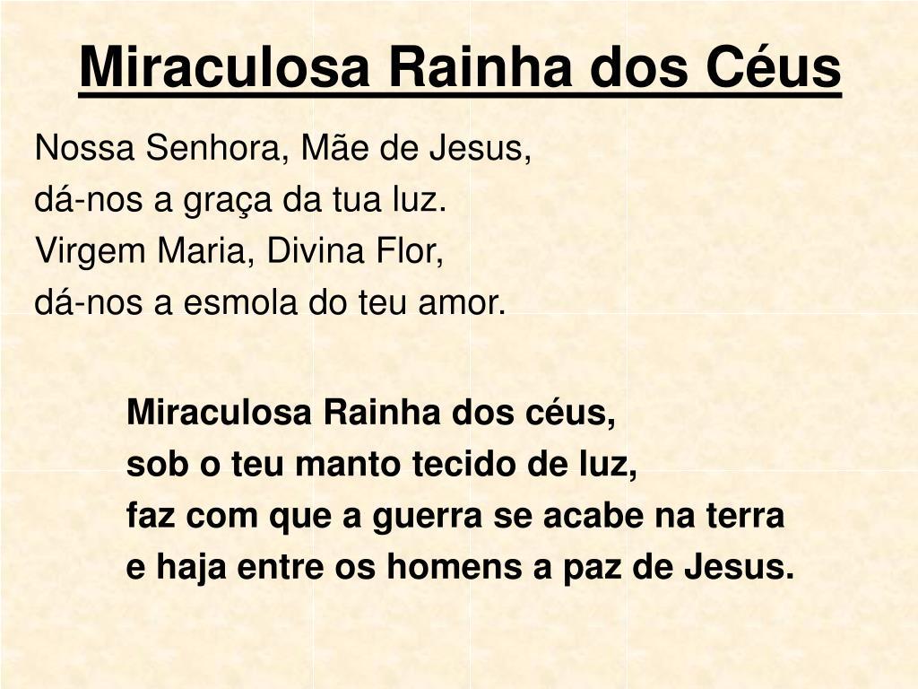 Miraculosa Rainha dos Céus