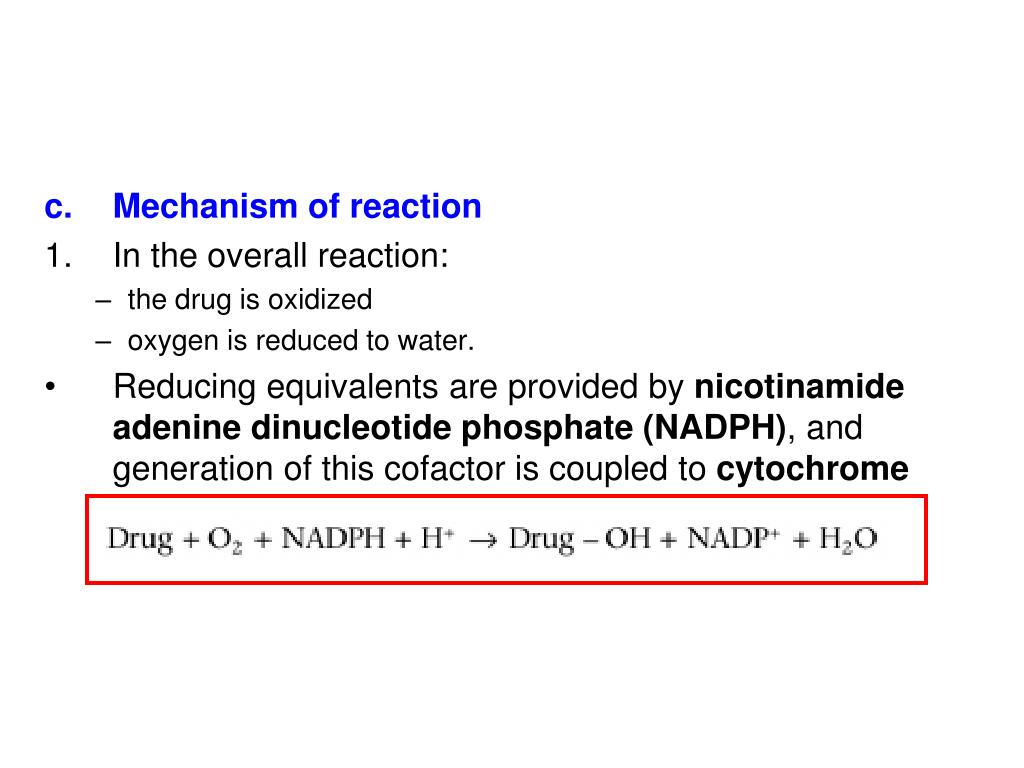 Mechanism of reaction