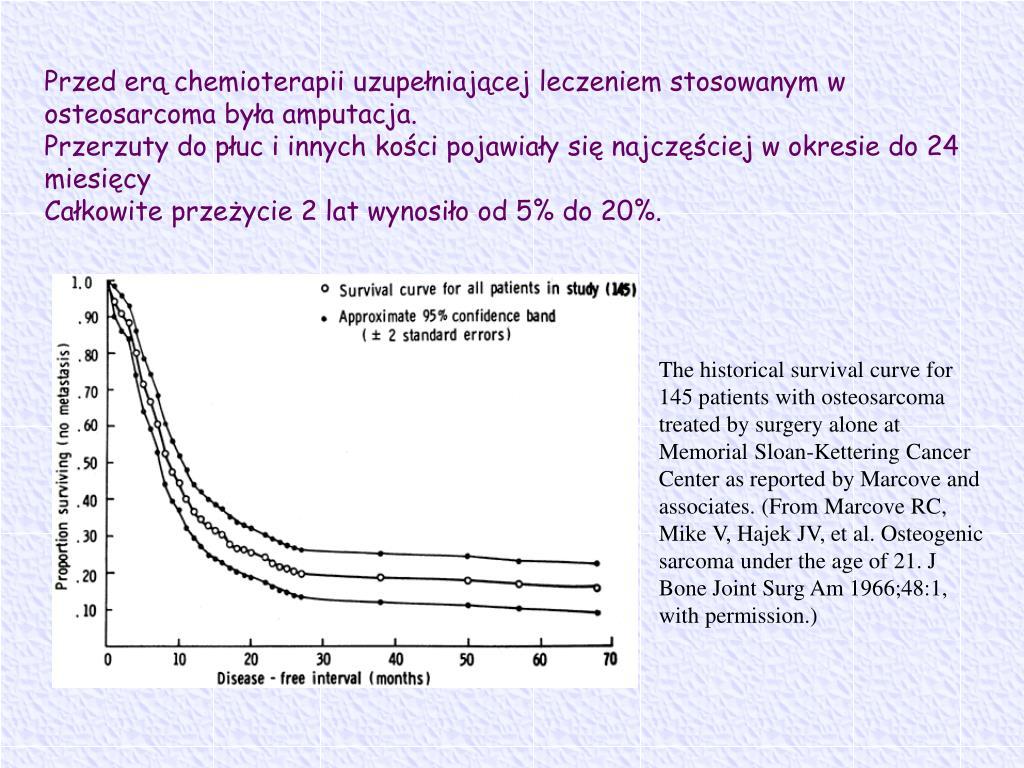 Przed erą chemioterapii uzupełniającej leczeniem stosowanym w osteosarcoma była amputacja.