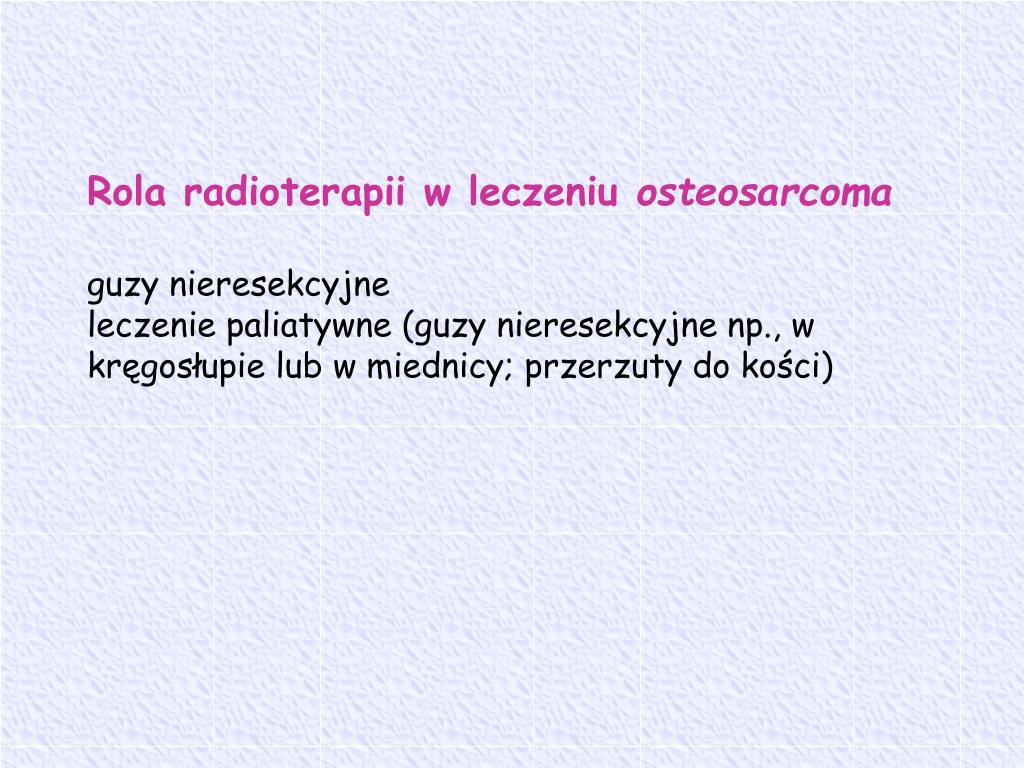 Rola radioterapii w leczeniu