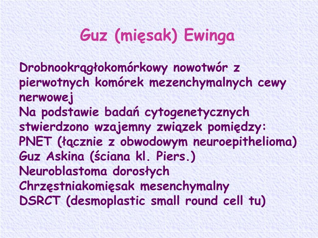 Guz (mięsak) Ewinga
