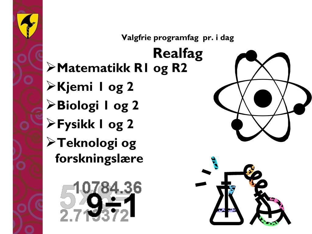 Matematikk R1 og R2