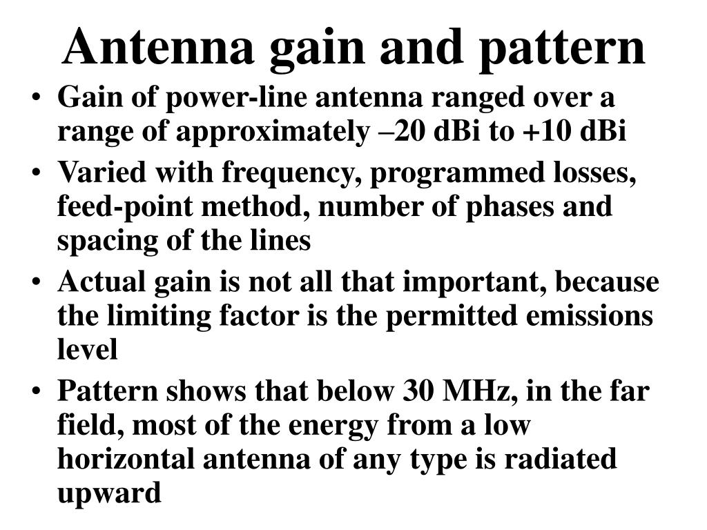 Antenna gain and pattern