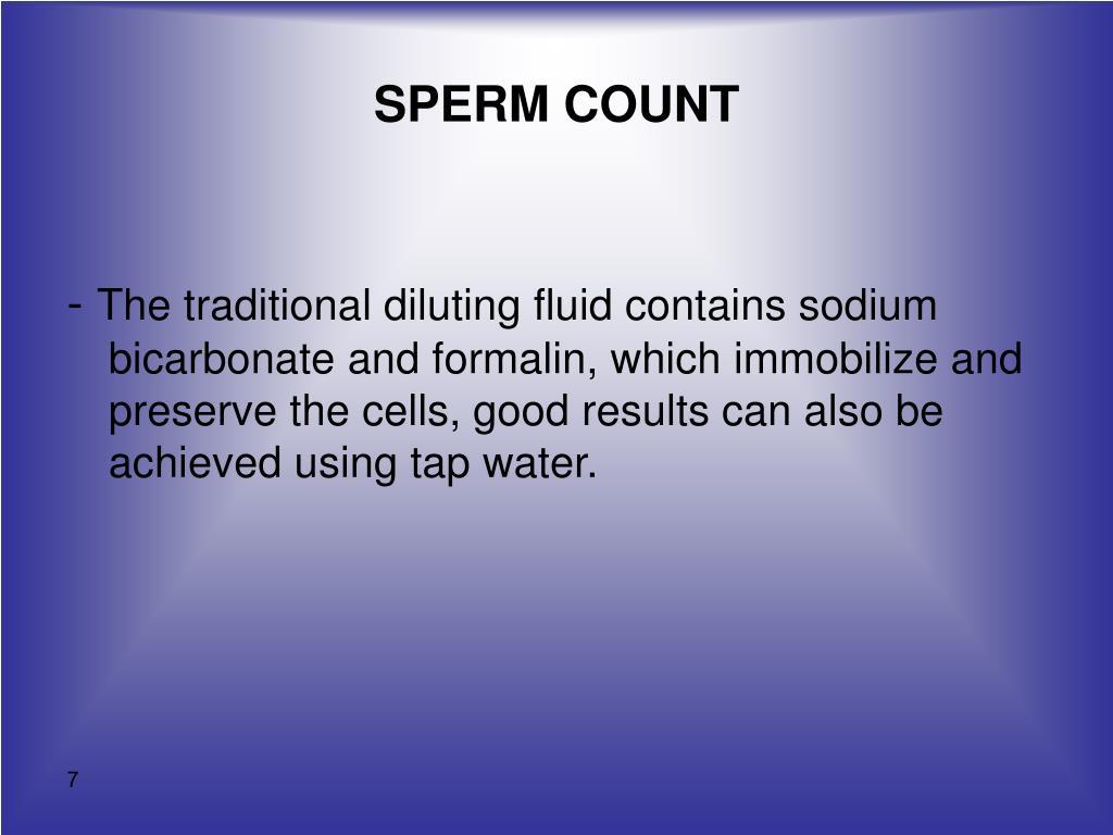 Remarkable sperm count slide