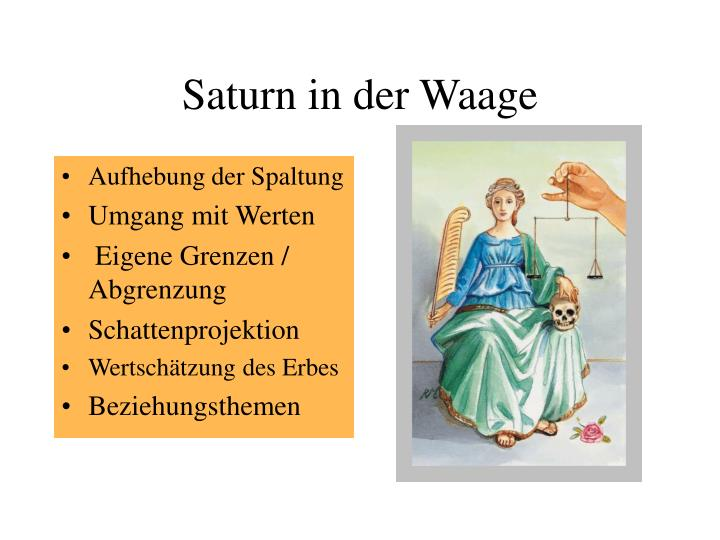 Saturn in der waage