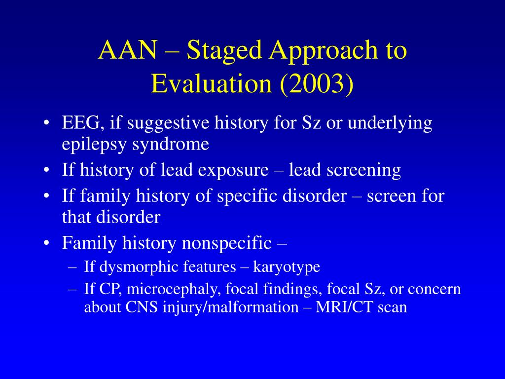 AAN – Staged Approach to Evaluation (2003)