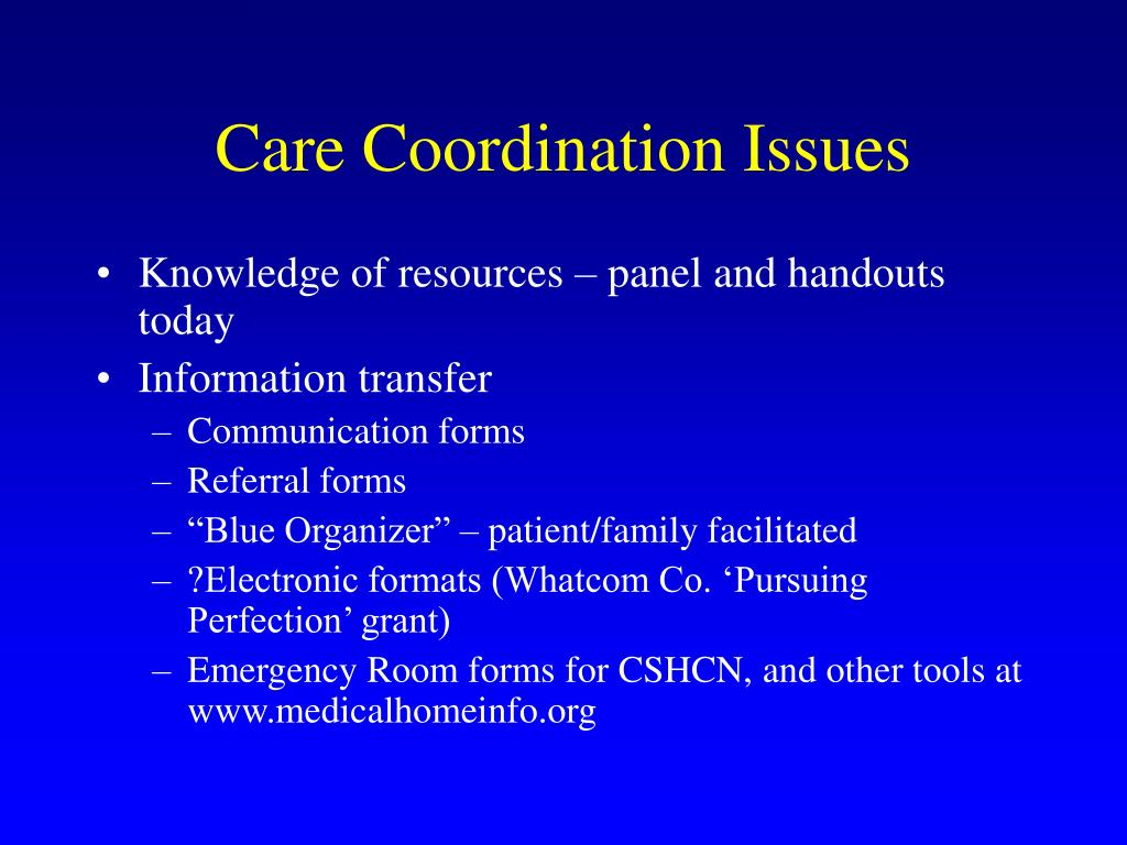 Care Coordination Issues