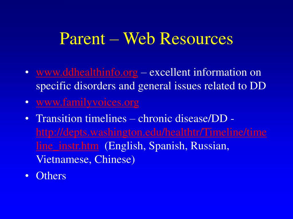 Parent – Web Resources