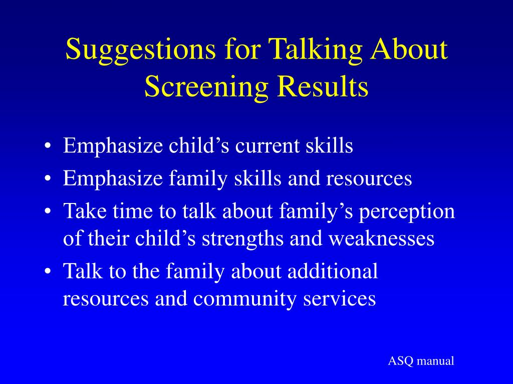 Suggestions for Talking About Screening Results