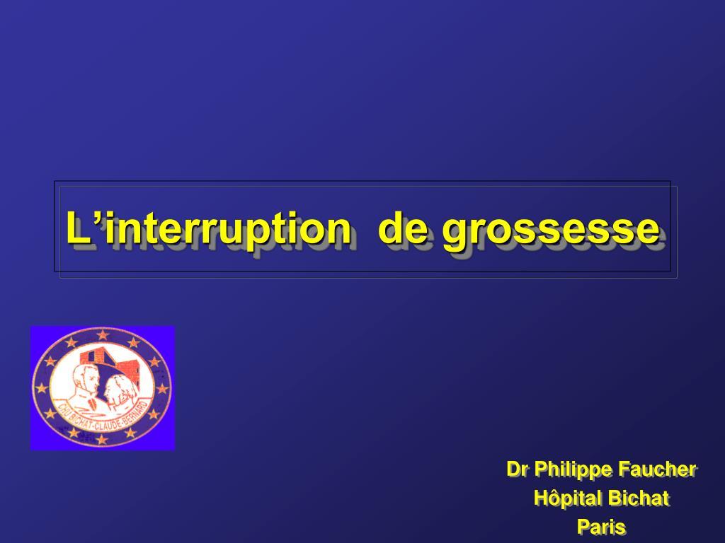 L'interruption  de grossesse