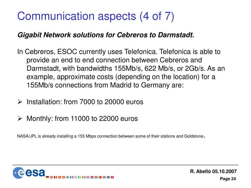 Communication aspects (4 of 7)