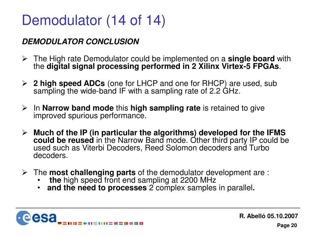 Demodulator (14 of 14)