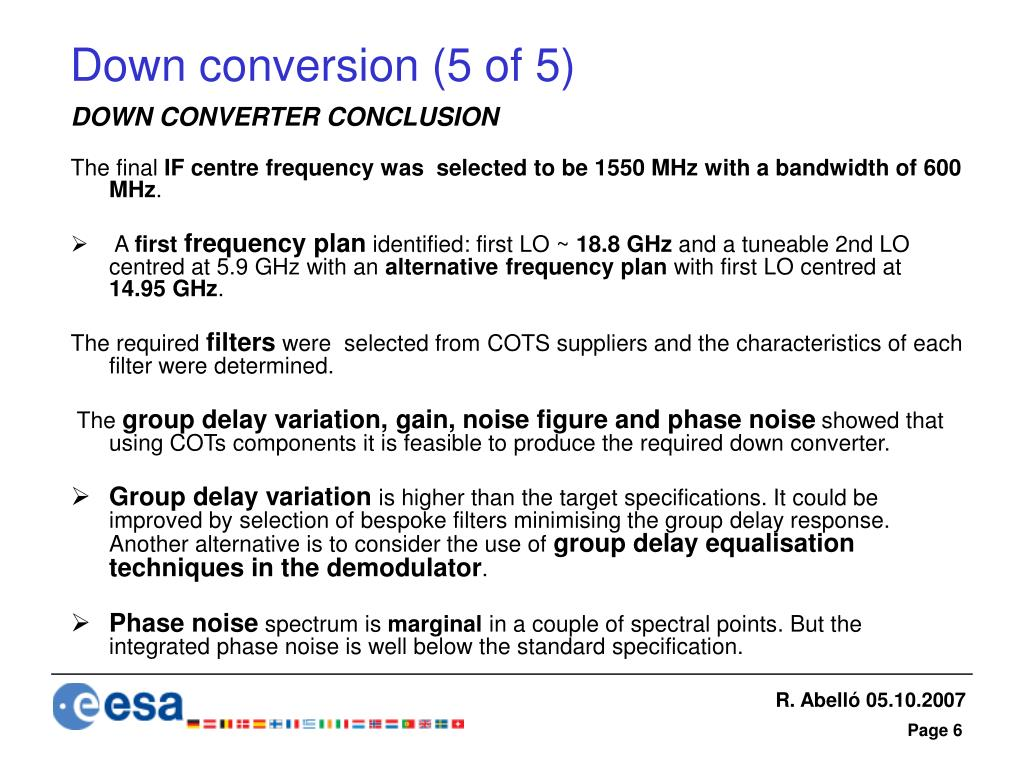 Down conversion (5 of 5)
