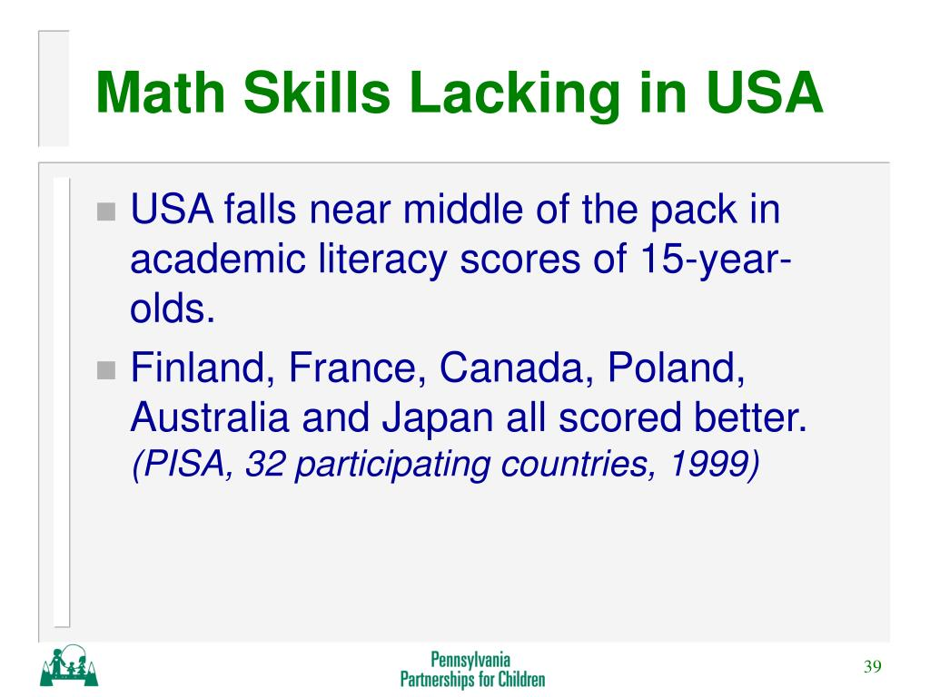 Math Skills Lacking in USA