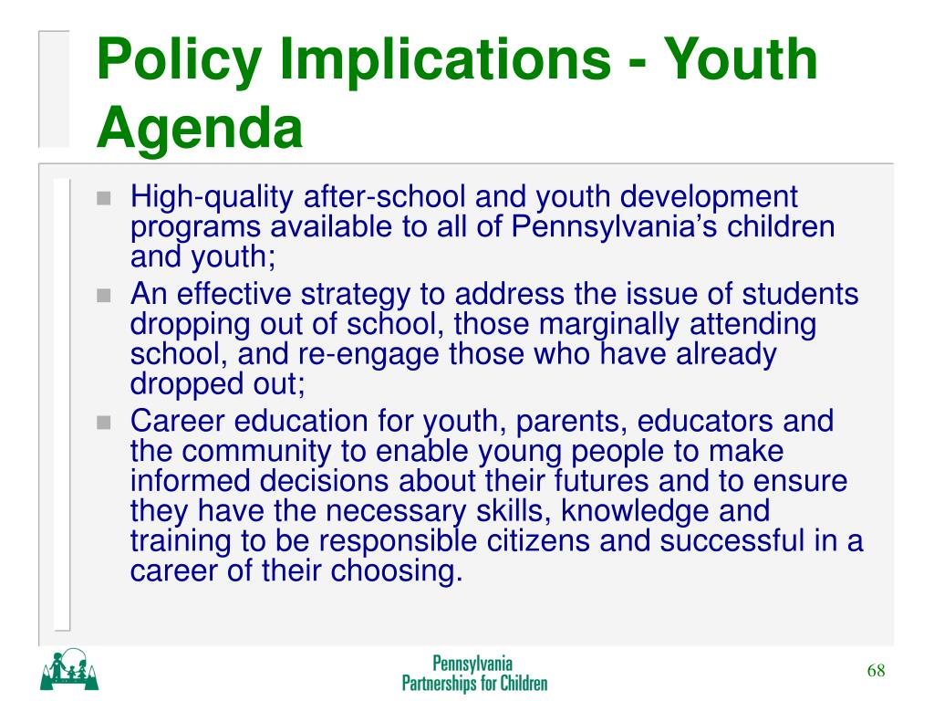 Policy Implications - Youth Agenda