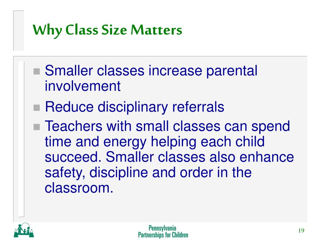 Why Class Size Matters