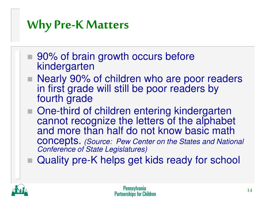 Why Pre-K Matters