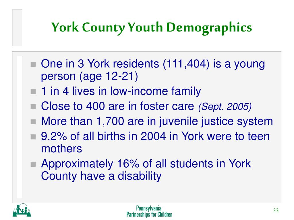 York County Youth Demographics