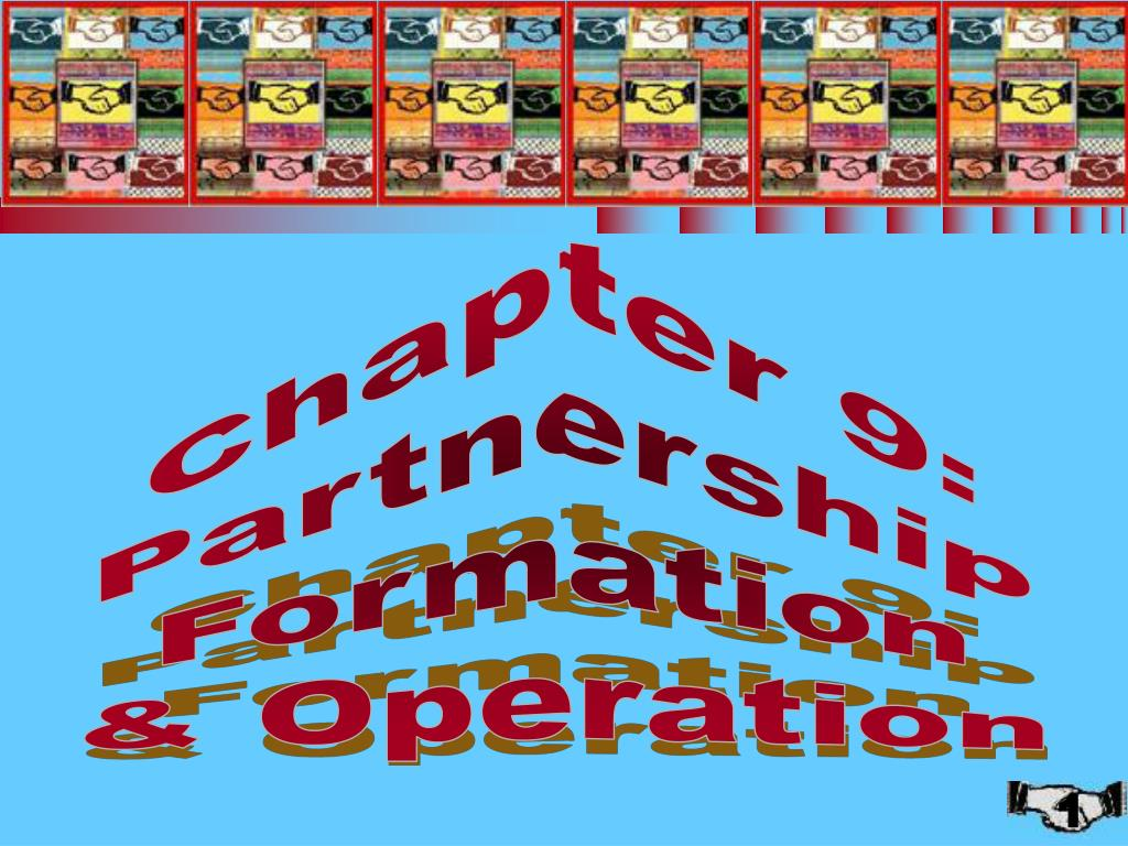 chapter 9 partnership formation and operation