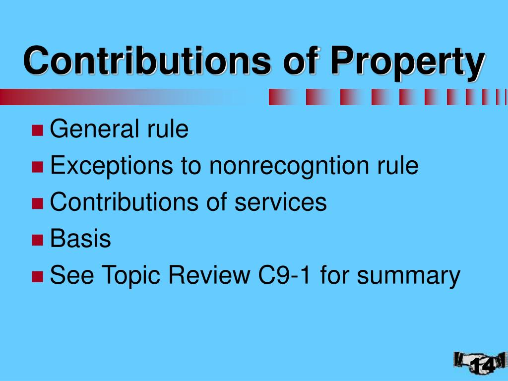 Contributions of Property