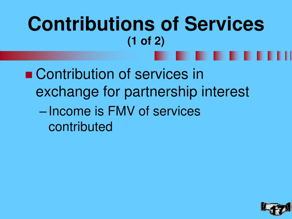 Contributions of Services