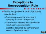 exceptions to nonrecognition rule
