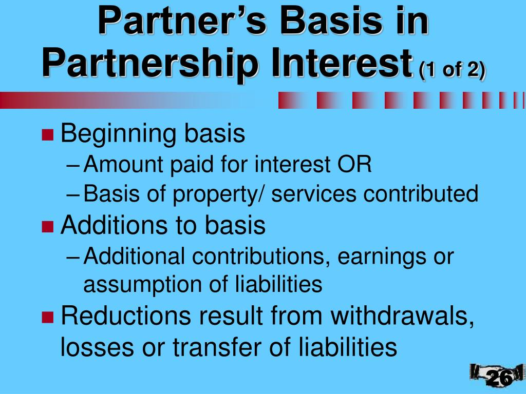 Partner's Basis in Partnership Interest