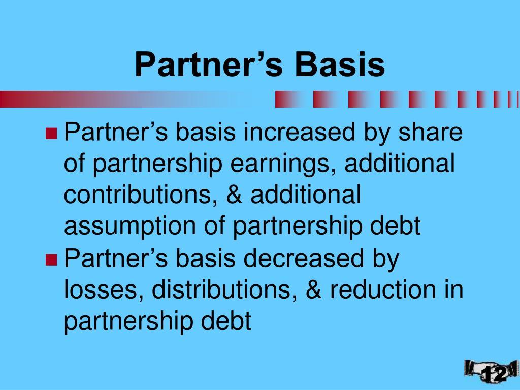 Partner's Basis