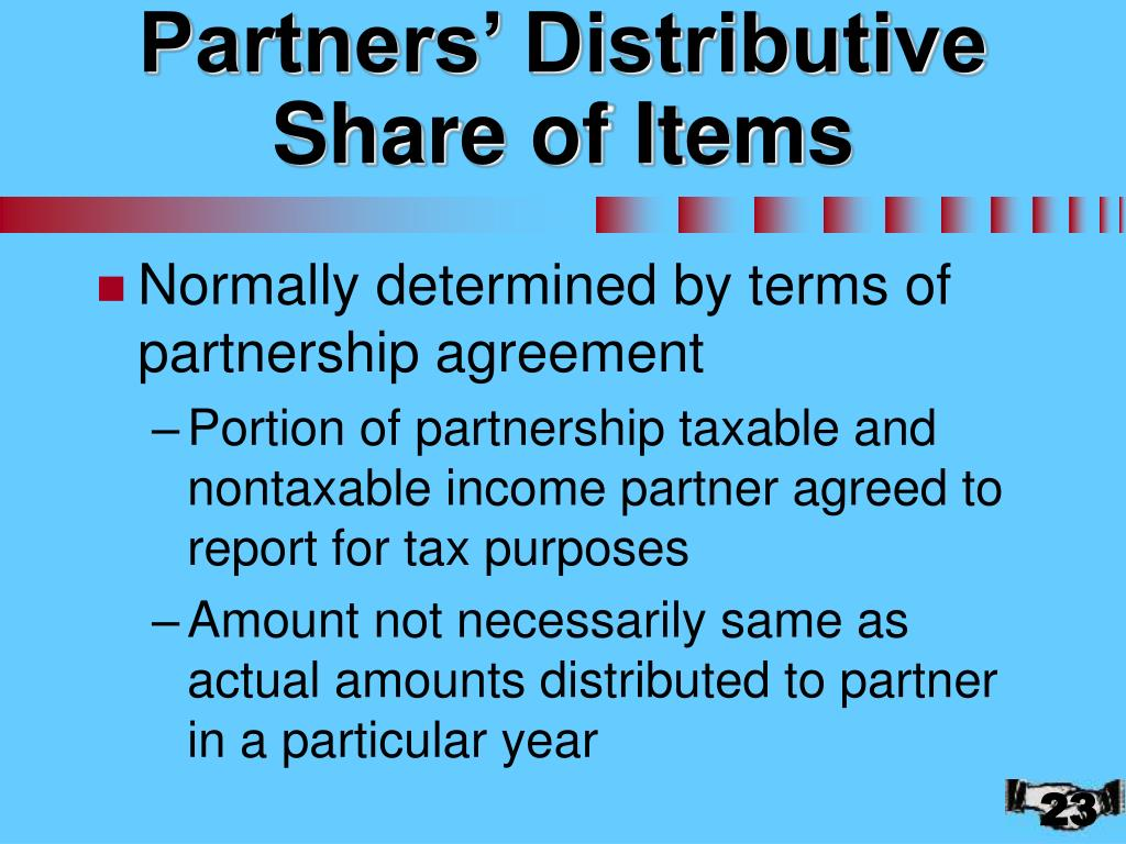 Partners' Distributive Share of Items
