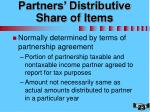 partners distributive share of items