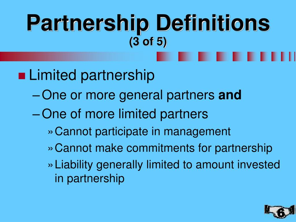Partnership Definitions