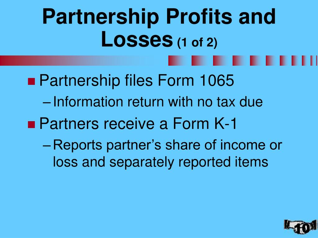 Partnership Profits and Losses
