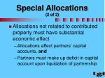 special allocations 2 of 2