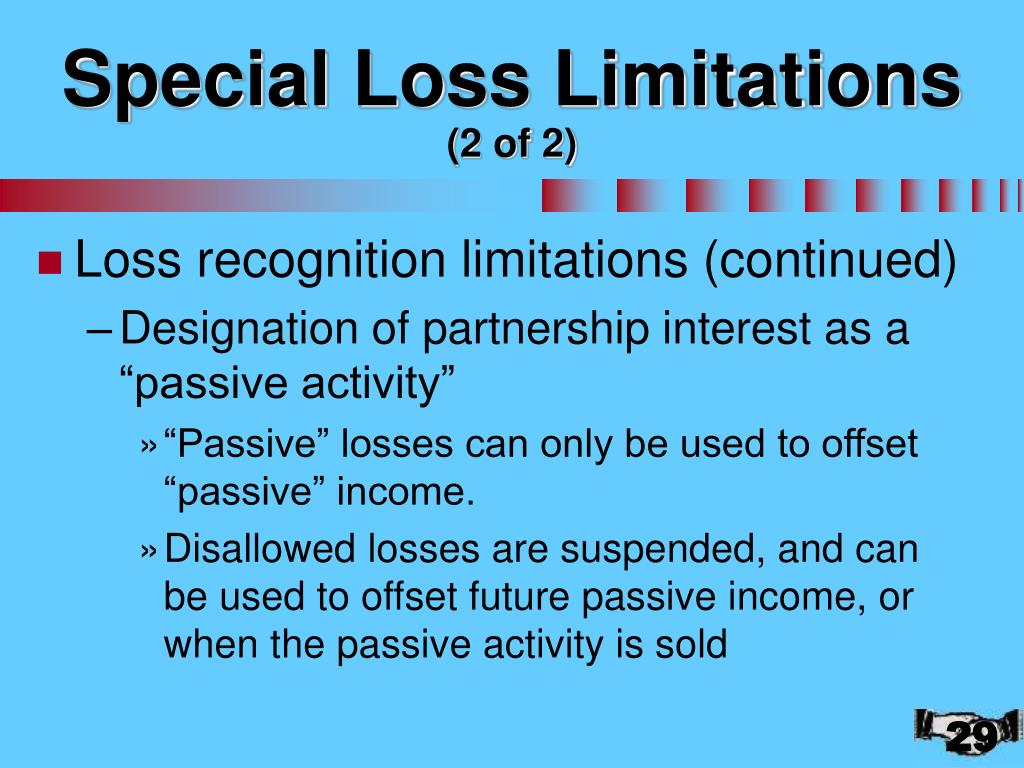 Special Loss Limitations