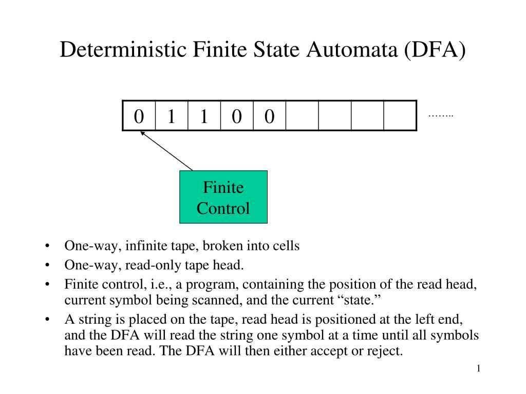 Deterministic Finite State Automata (DFA)