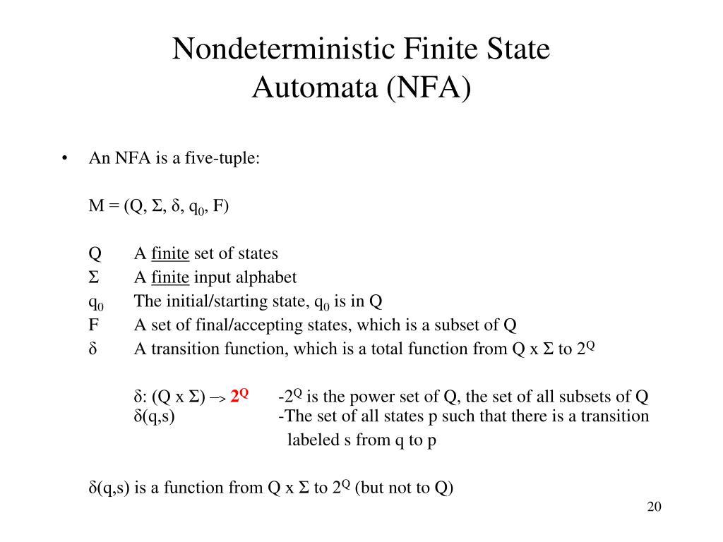 Nondeterministic Finite State