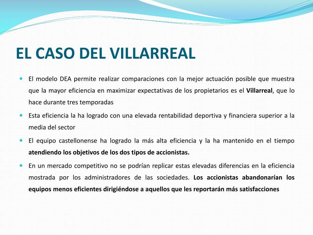 EL CASO DEL VILLARREAL