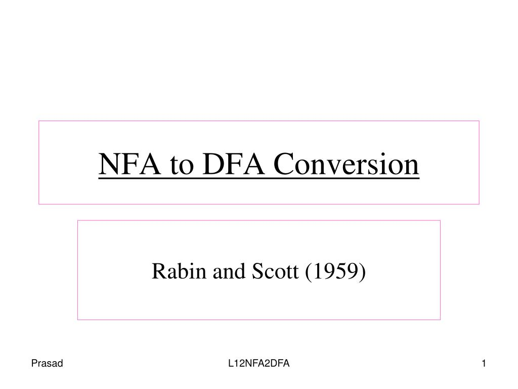 nfa to dfa conversion