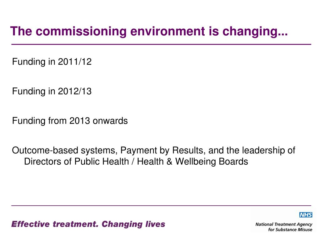 The commissioning environment is changing...