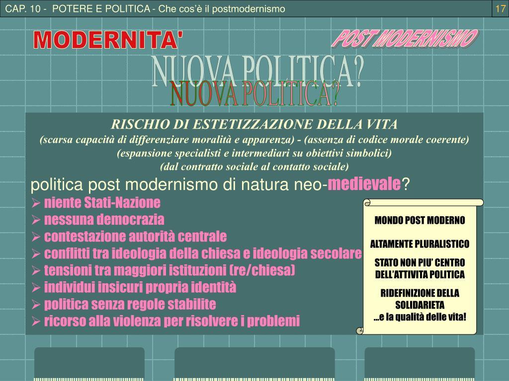 CAP. 10 -  POTERE E POLITICA - Che cos'è il postmodernismo