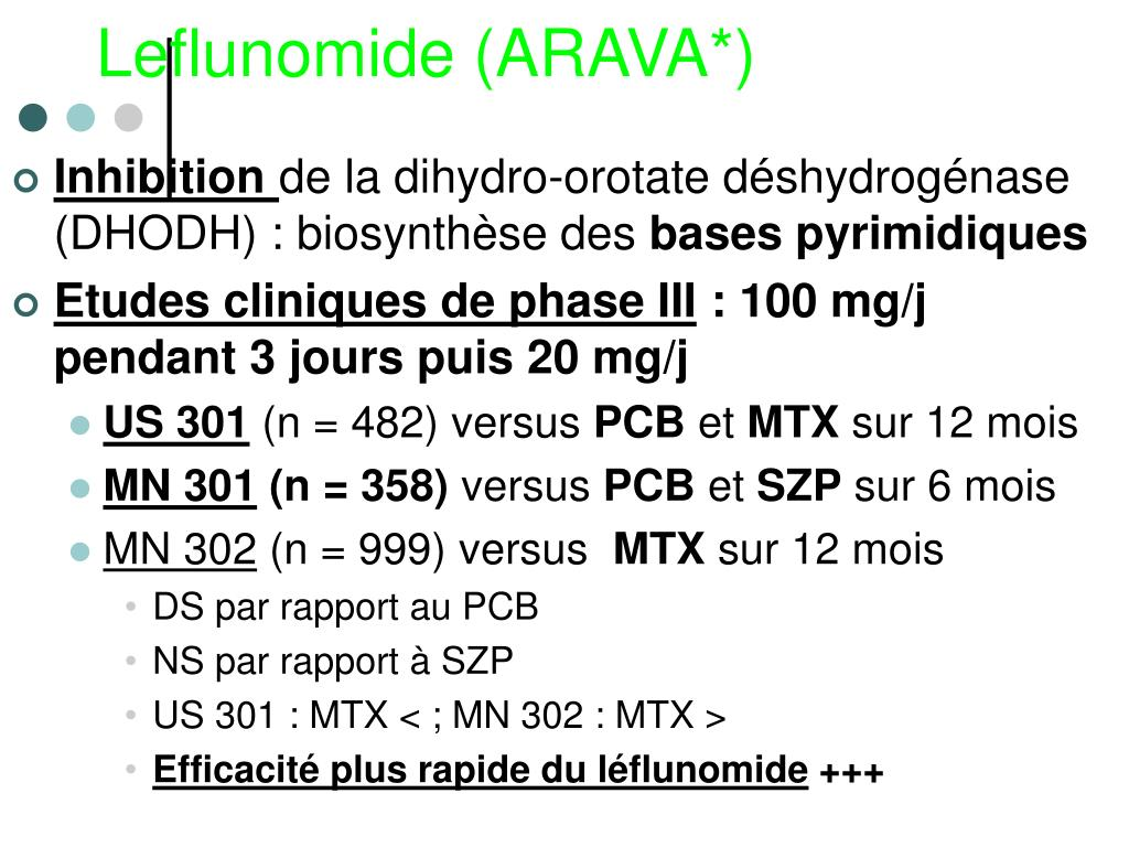 Leflunomide (ARAVA*)