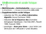 methotrexate et acide folique