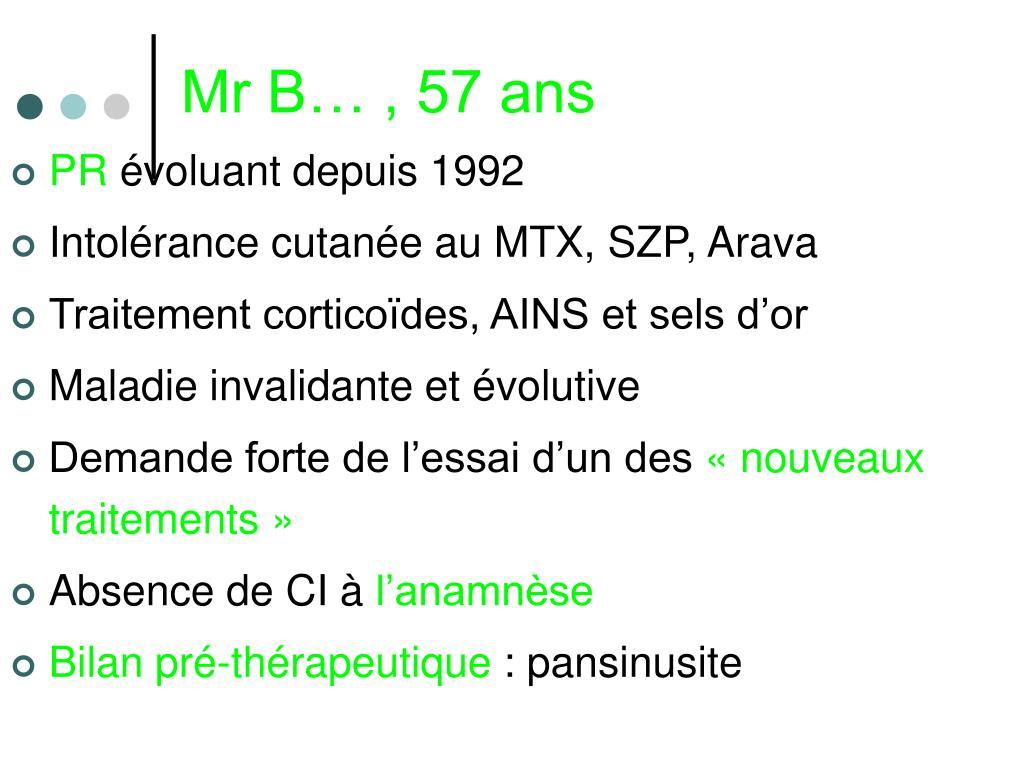 Mr B… , 57 ans
