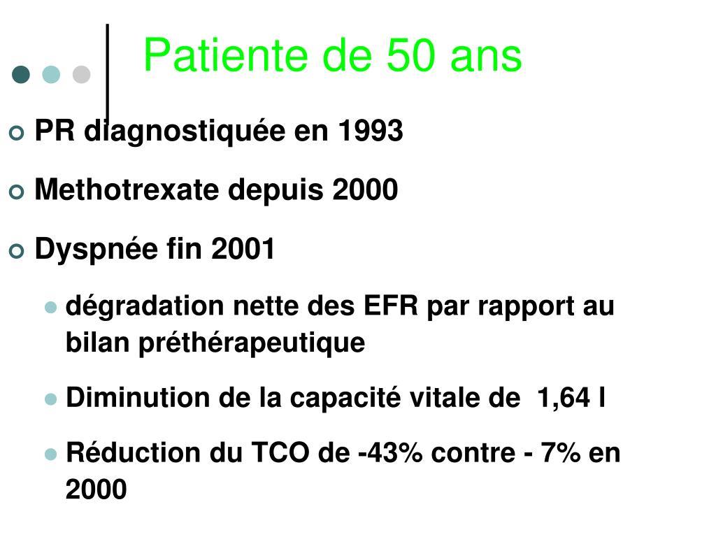 Patiente de 50 ans