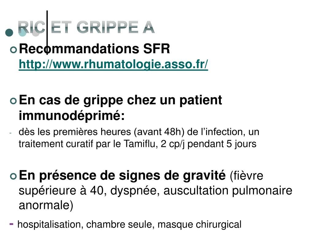 RIC et Grippe A