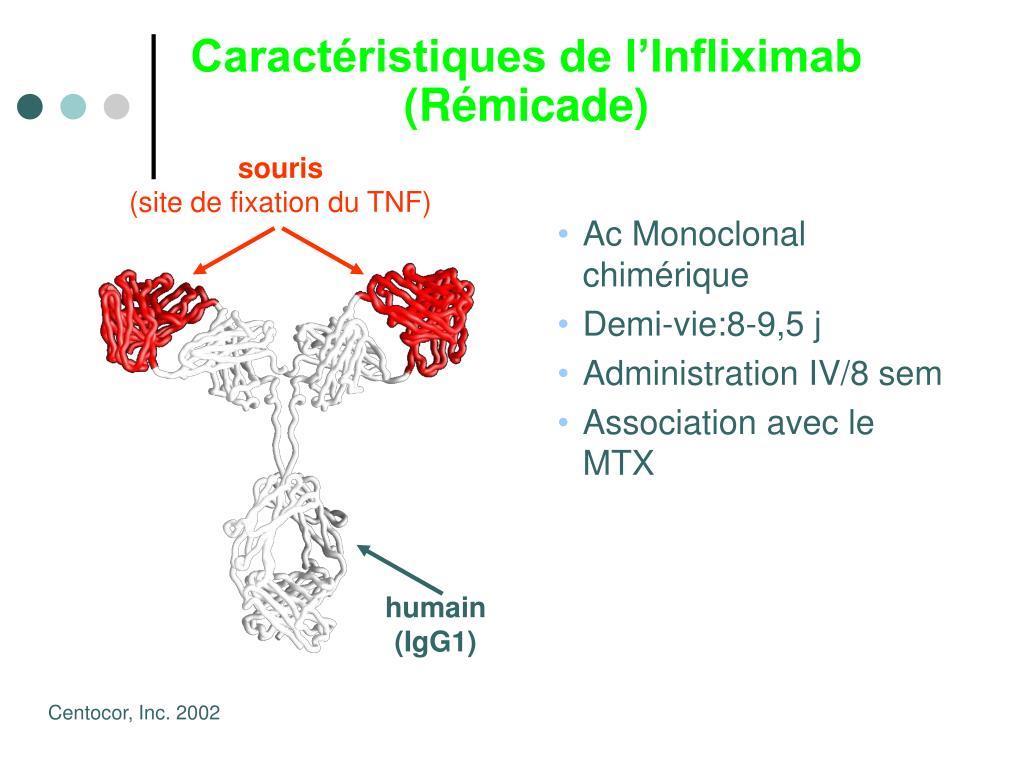 Caractéristiques de l'Infliximab