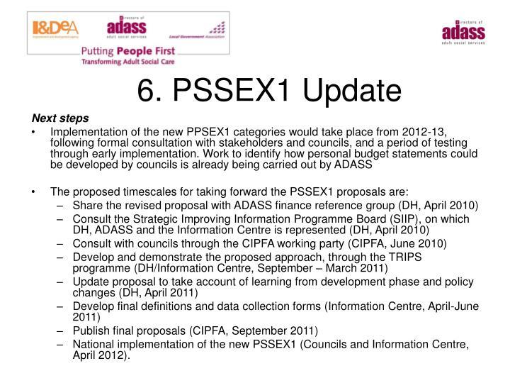 6. PSSEX1 Update