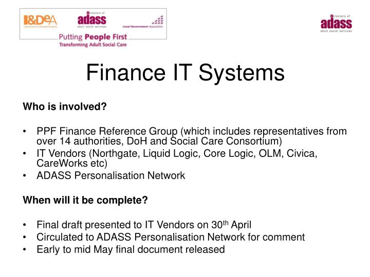 Finance IT Systems