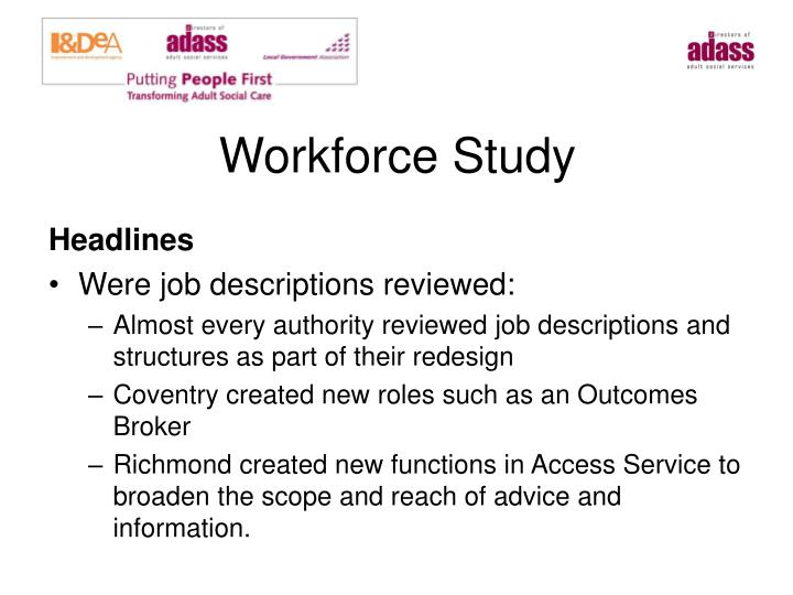 Workforce Study